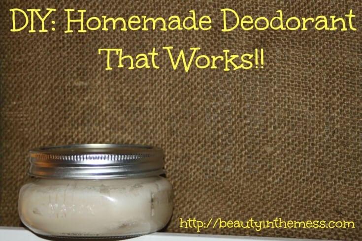 Homemade Deodorant in jar with burlap backdrop