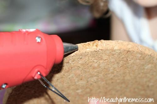 Fabric Pin Board Glue Gun