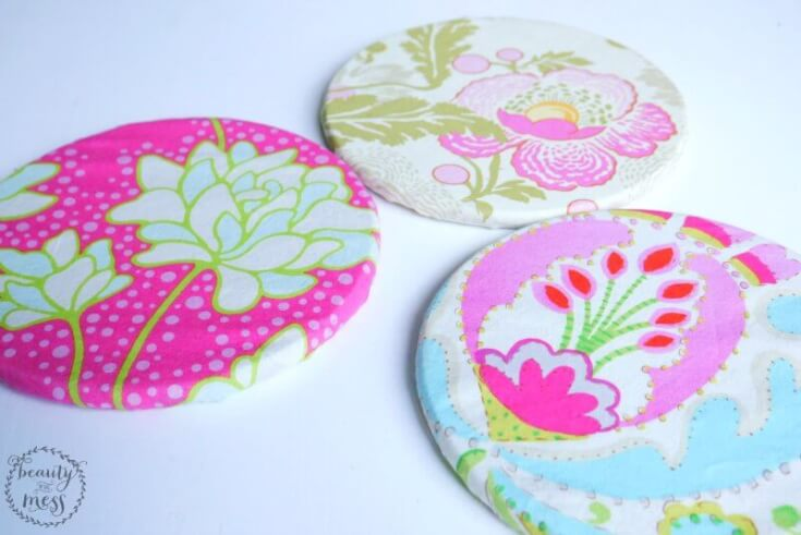 Fabric covered trivets-2