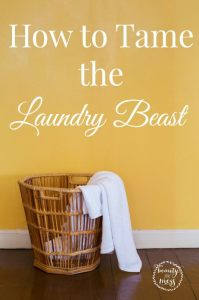 How to Tame the Laundry Beast Laundry Tips-2