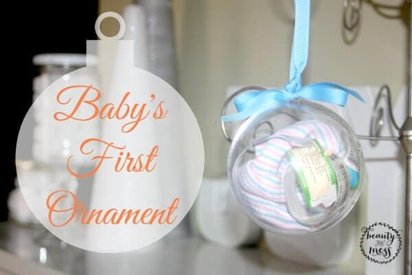 Baby First Ornament Scrapbook