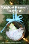 Scrapbook Ornament