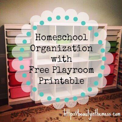 Homeschool Organization Free Printable