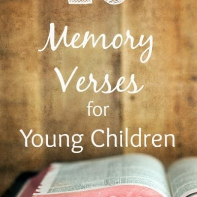 10 Memory Verses for Young Children