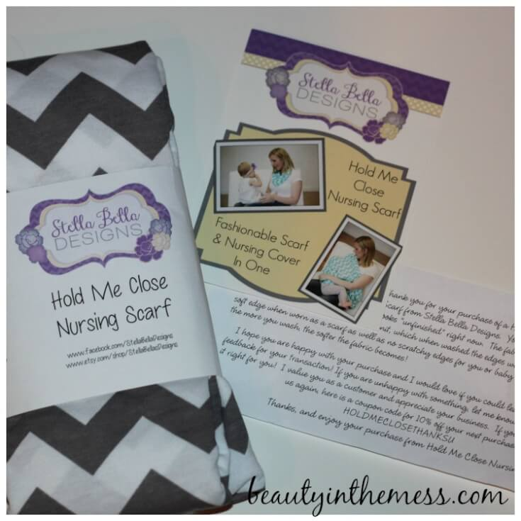 Hold Me Close Nursing Scarf Package