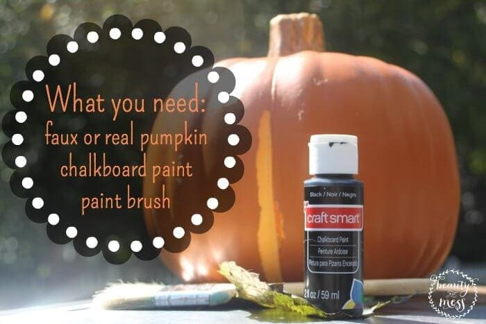 Pumpkin Painting What You Need