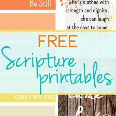 {Free} Scripture Printables