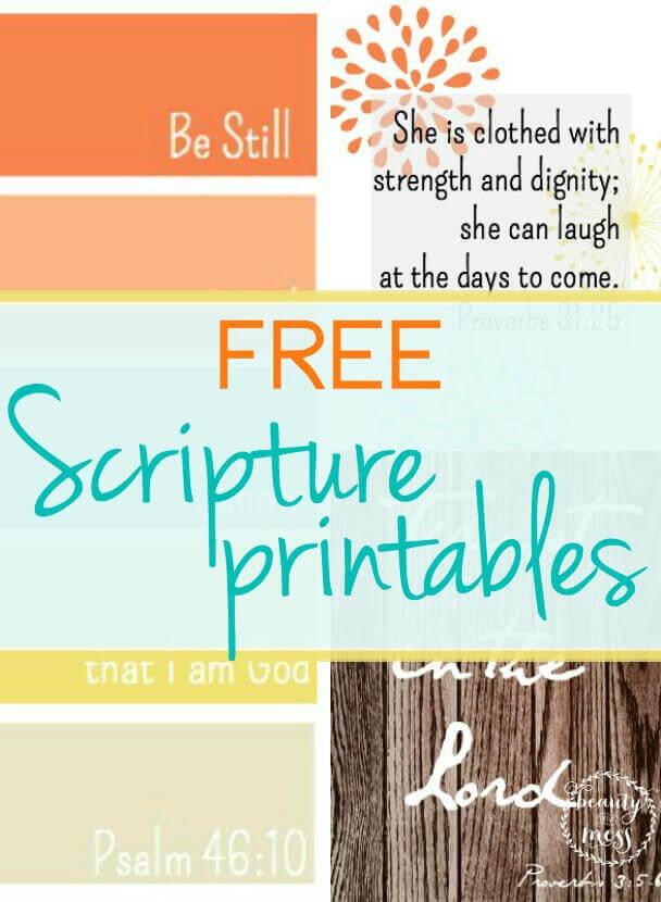 Free Scripture Printables