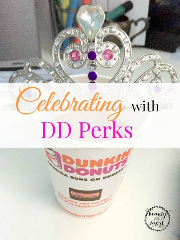 Celebrating with DD Perks Dunkin Donuts