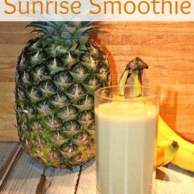 Pineapple-Orange {Dairy Free} Sunrise Smoothie