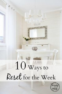 10 Ways to Reset for the Week
