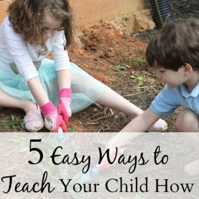 5 Easy Ways to Teach Your Child How to Go Green