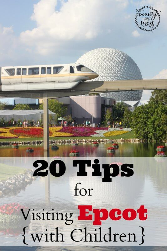20 Sanity Saving Travel Tips for Visiting Epcot with Kids. via @simplifyingfamily