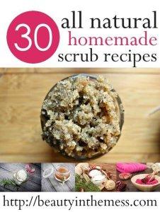 30 all natural homemade scrub recipes