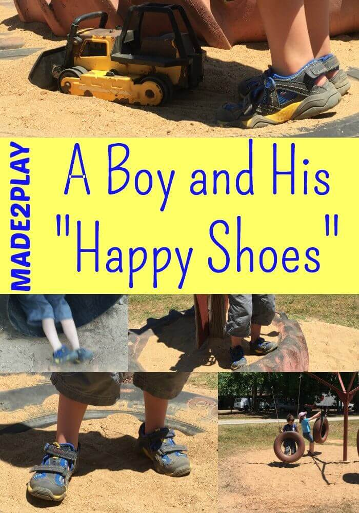 A BOY AND HIS HAPPY SHOES