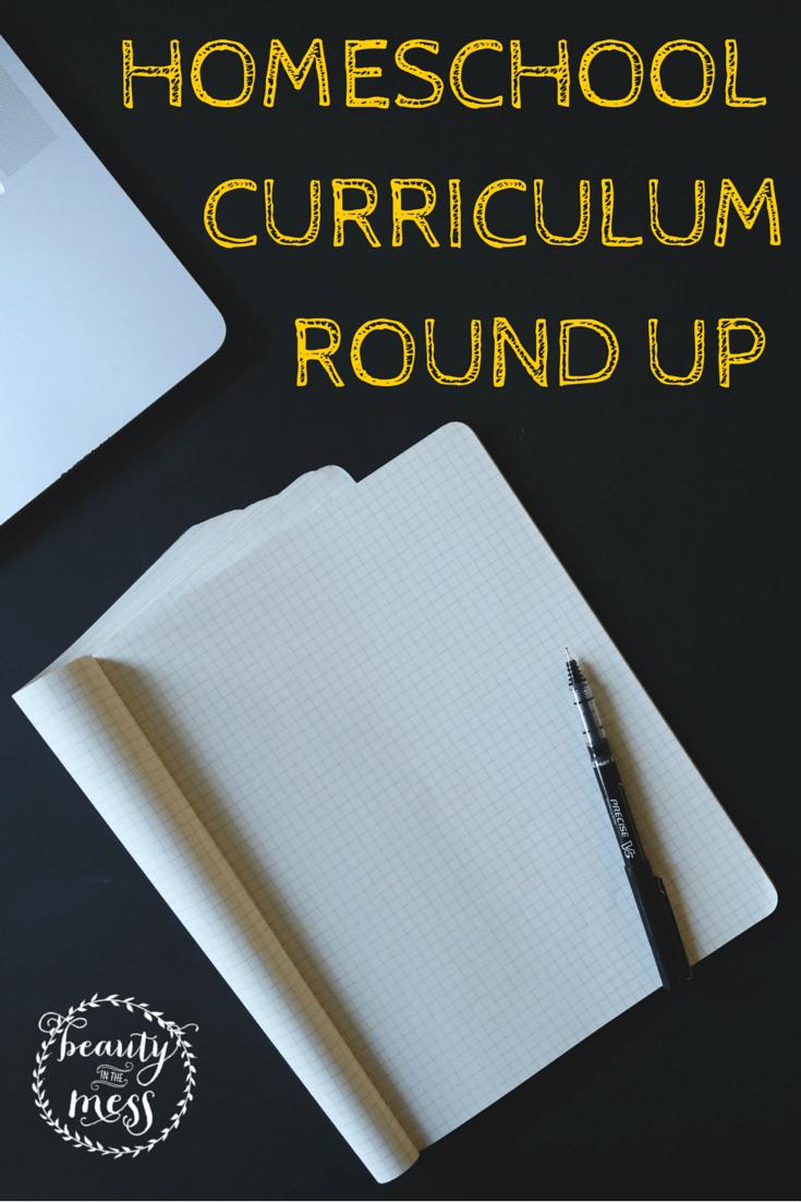 Homeschool CURRICULUM ROUND UP