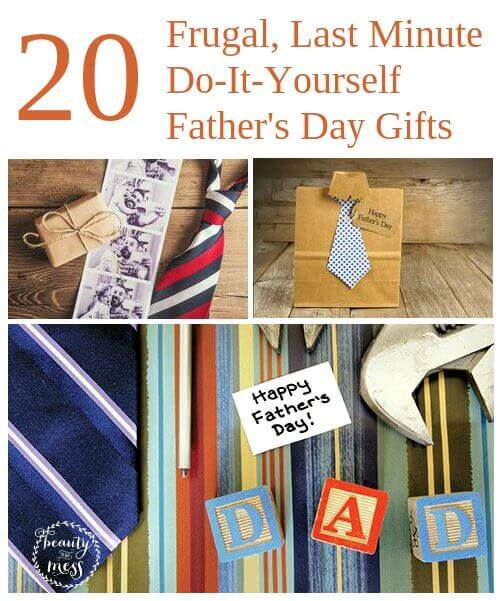 Frugal Last Minute DIY Fathers Day Gifts