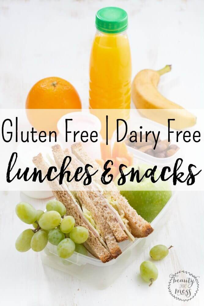 Check out this amazing list of Gluten Free Dairy Free Recipes For Lunches & Snacks that everyone will enjoy!  This list contains delicious easy options!