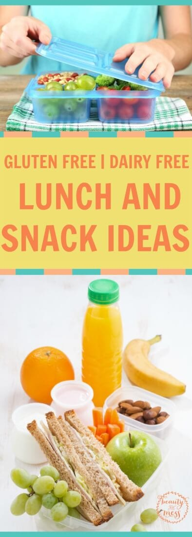 Check out this amazing list of gluten free and dairy free snacks and lunch recipes that everyone will enjoy! This list contains delicious easy options!