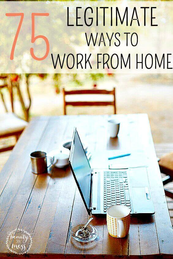 Looking for work at home opportunities? Need to make some extra money? Tired of sifting through scams? Here are 75 legitimate ways you can #workfromhome . #sidehustle #sidejobideas via @simplifyingfamily