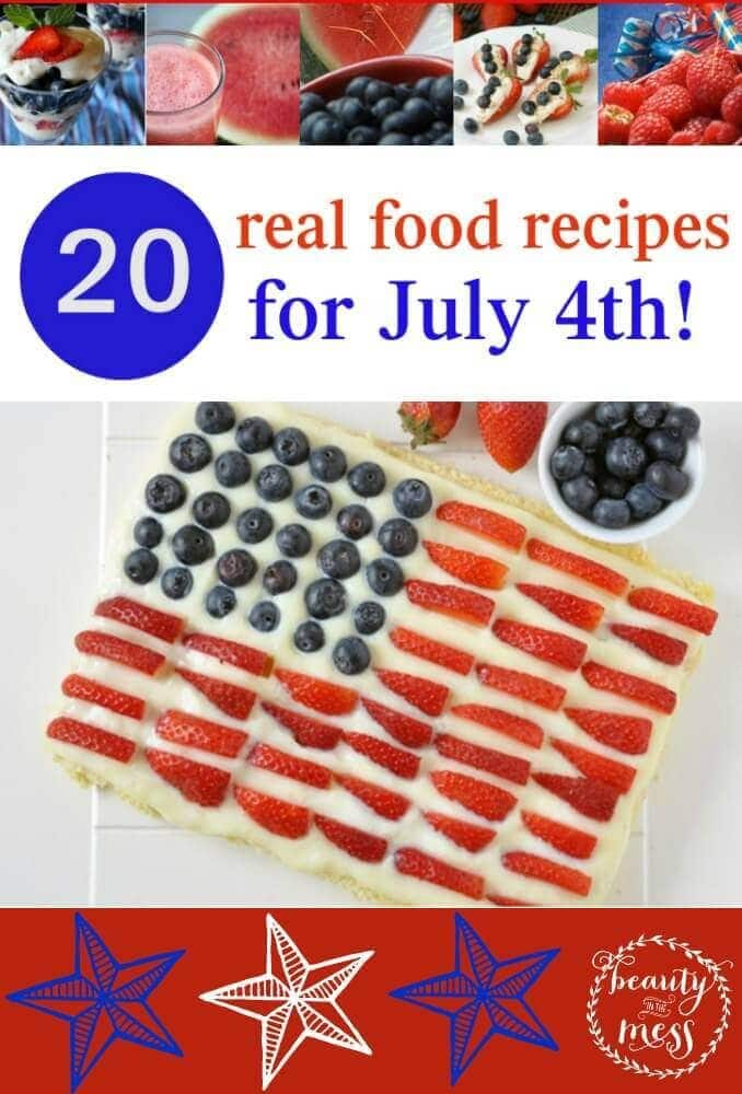 Real Food Recipes for the 4th of July