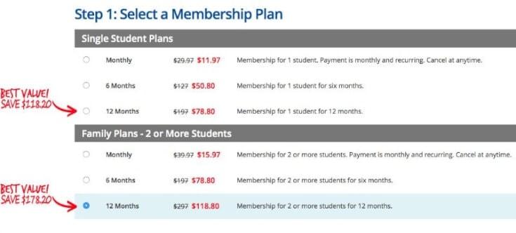 CTC Math Payment