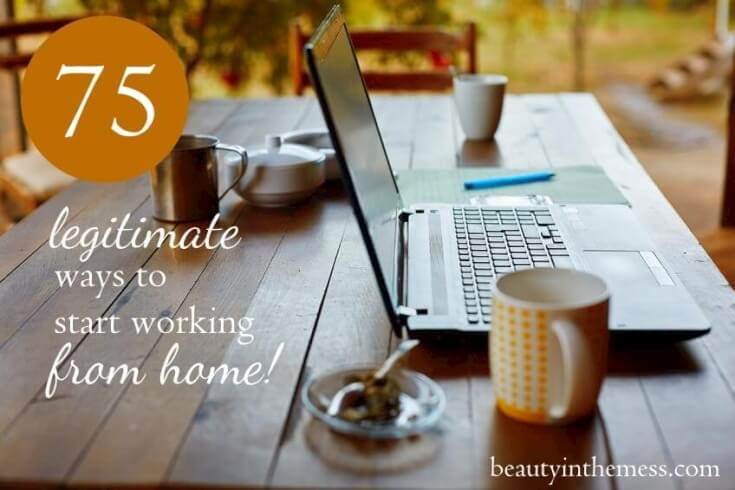 75 legitimate work at home opportunities