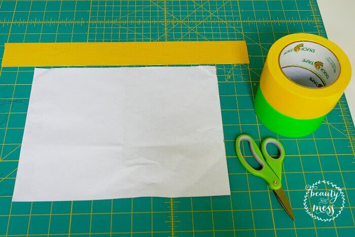 Decide how big your want to make your DUCK TAPE bag-2