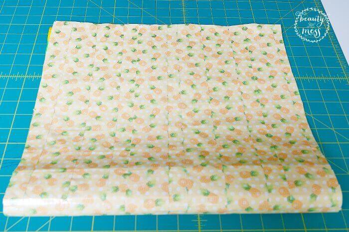 Fold the DUCK TAPE sheet in half-2
