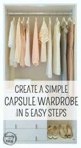 CREATE A SIMPLE CAPSULE WARDROBE IN 5 EASY STEPS