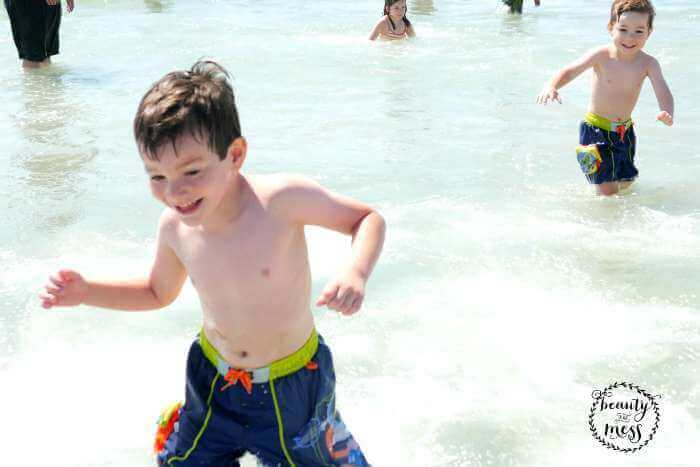 Running in the ocean