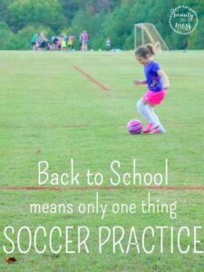 Back to School Means Soccer Practice