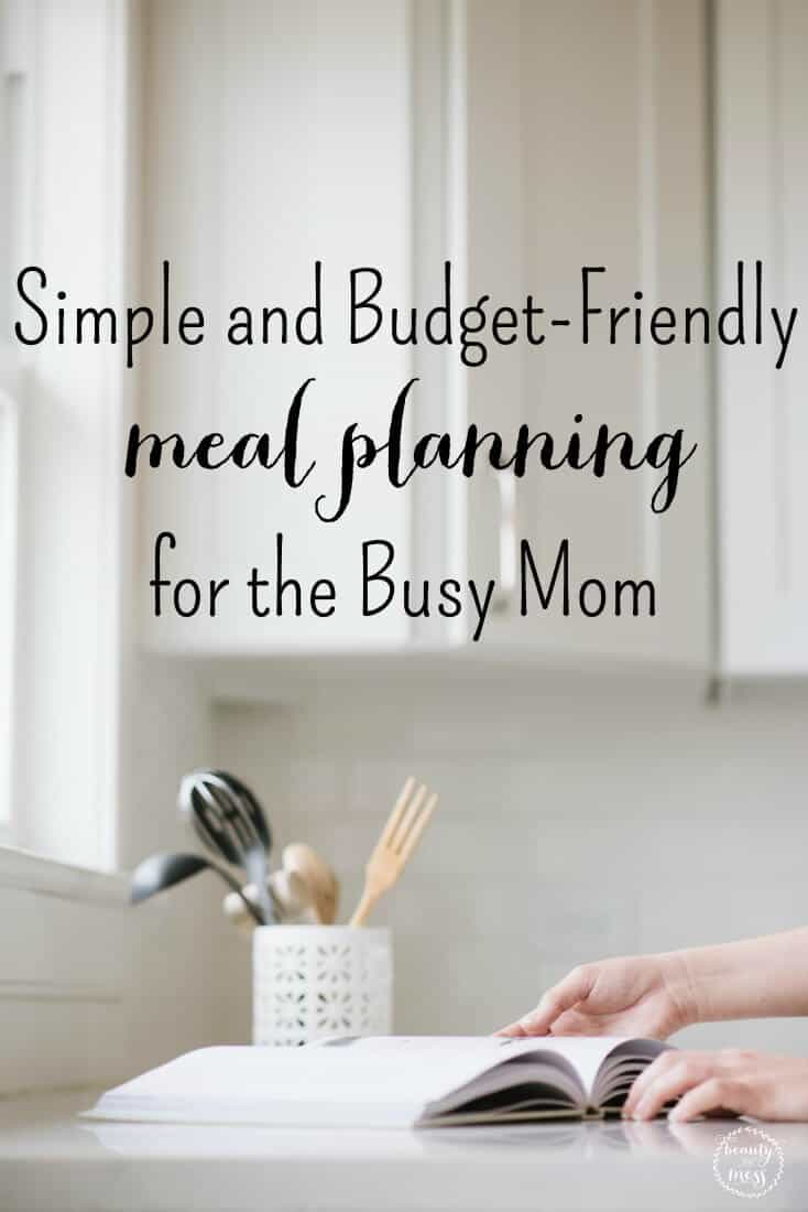 This sanity-saving, two-week meal planning list will help you take back control. You'll know exactly what food you have as well as what you need to buy while sticking to your budget. Includes a free printable. via @simplifyingfamily