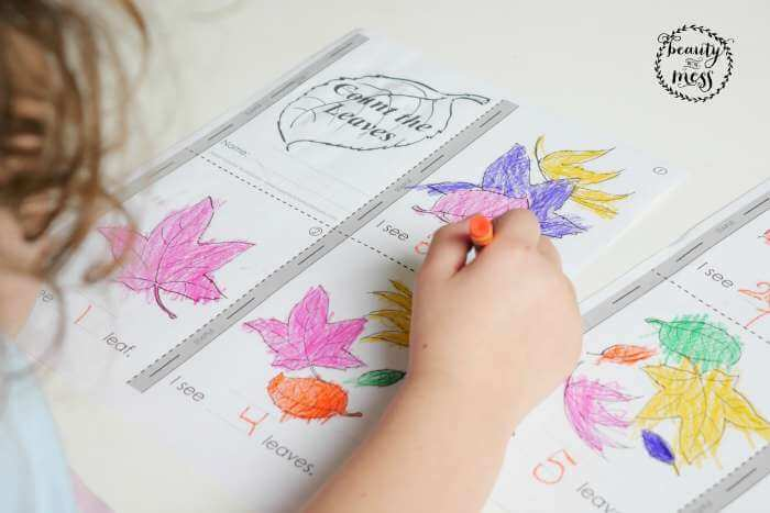 Super Worksheets Count the Leaves MiniBook