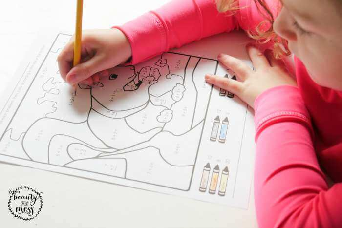 Super Worksheets Math and Coloring