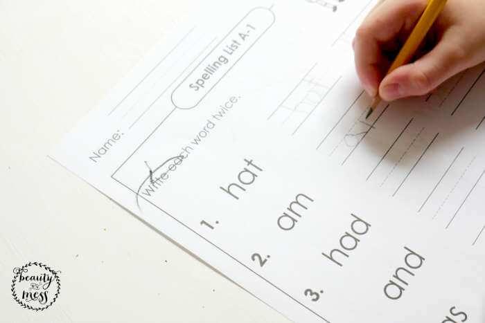 Super Worksheets Spelling List