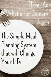 The Simple Meal Planning System that WILL Change Your Life