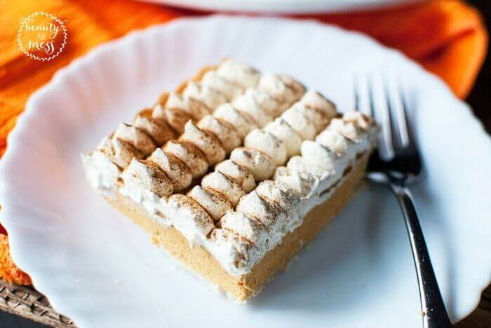Frozen Pumpkin Mousse Tart Square