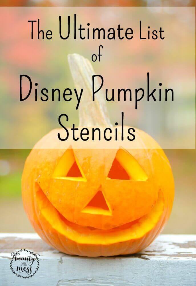 The Ultimate List of Disney Pumpkin Stencils