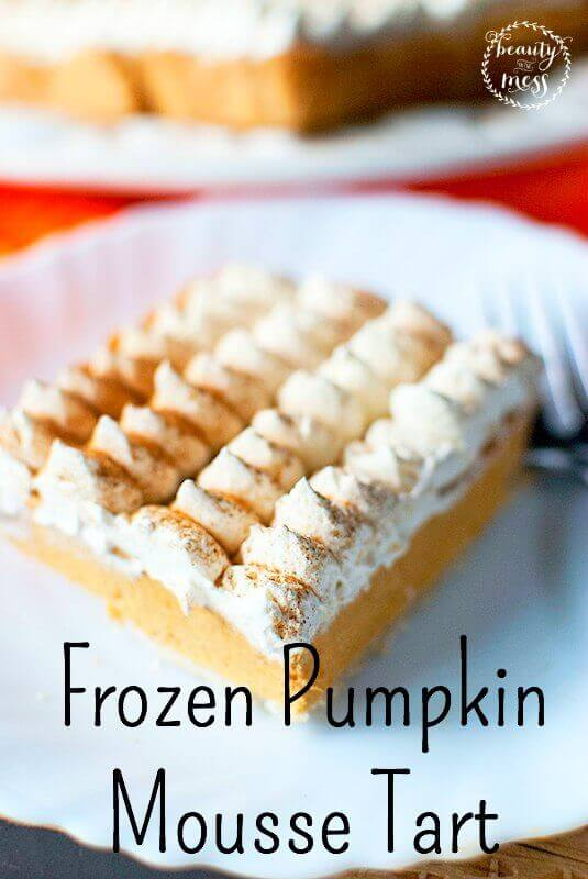mouth-watering Frozen Pumpkin Mousse Tart