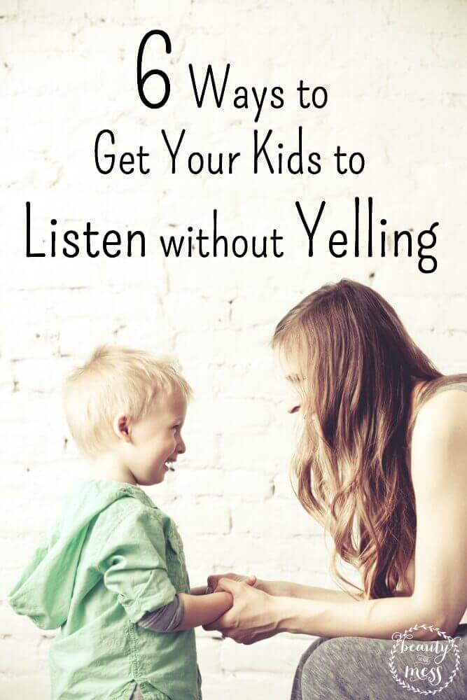 Sometimes it feels like yelling is the only solution, but we all know it only makes things worse.  You really can get your kids to listen without yelling.
