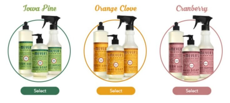 Mrs Meyers Seasonal Soap Scents