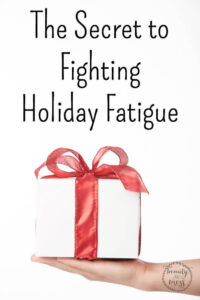 The Secret to Fighting Holiday Fatigue {plus a Giveaway}