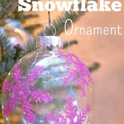 Easy Glitter Snowflake Ornament