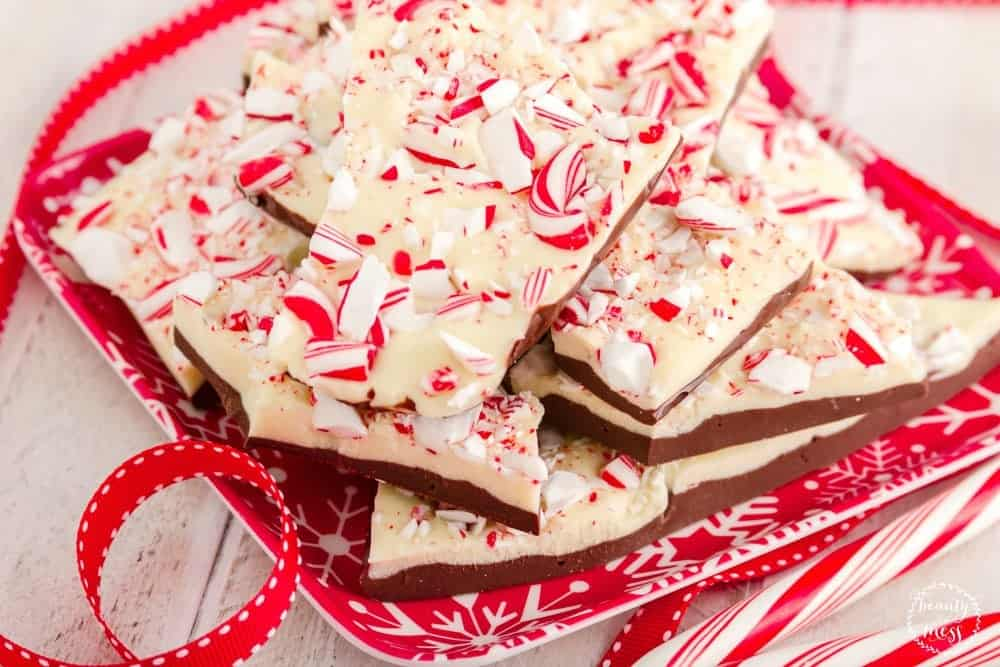 Peppermint Bark with Candy Canes