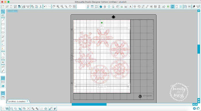 Snowflakes in Design Studio