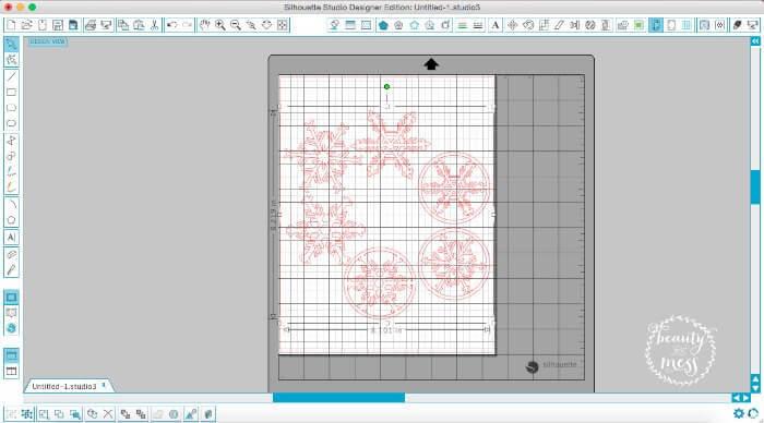 Snowflakes in Design Studio