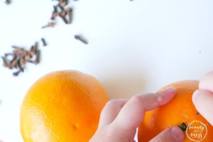 homemade ornament orange