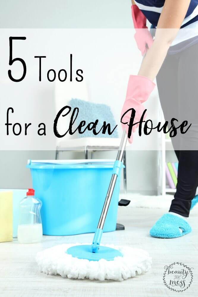 Having a tidy and clean house can reduce stress and free creativity. Here are five tools to help you keep your tidy house clean. via @simplifyingfamily