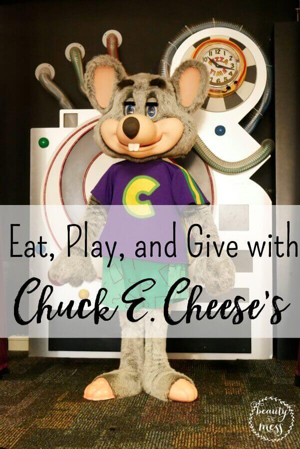 Eat, Play, and Give with Chuck E. Cheese's